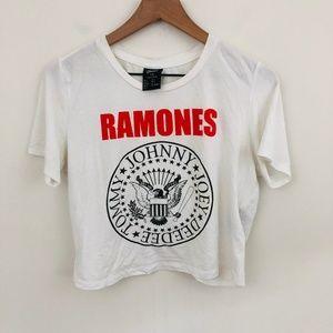 Bravado The Ramones Band Graphic Crop Top